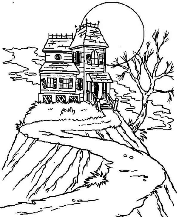 Haunted Mansion Coloring Pages