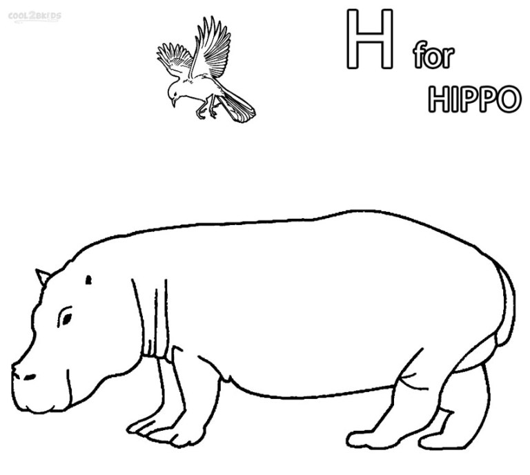Hippos Coloring Pages