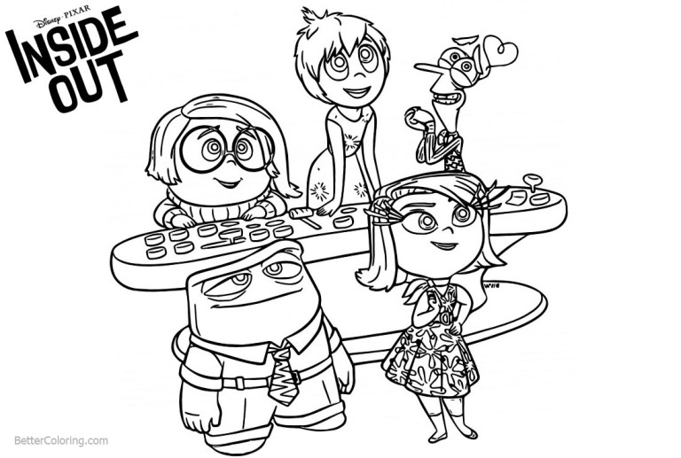 Inside Out Coloring Pages Printable