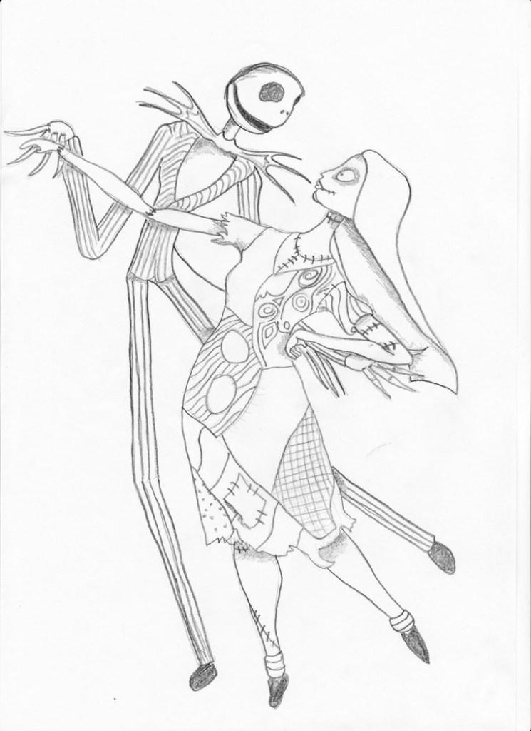 Jack Skellington And Zero Drawing