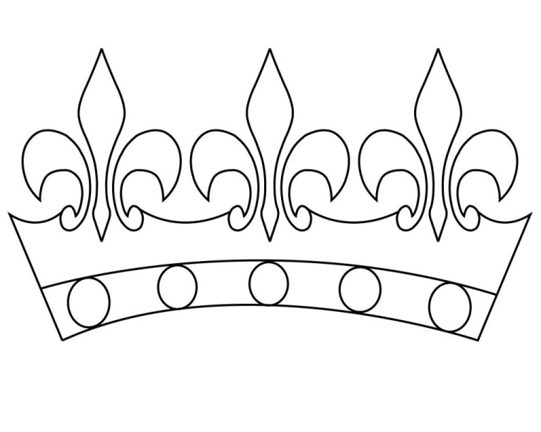 King And Queen Crown Coloring Pages