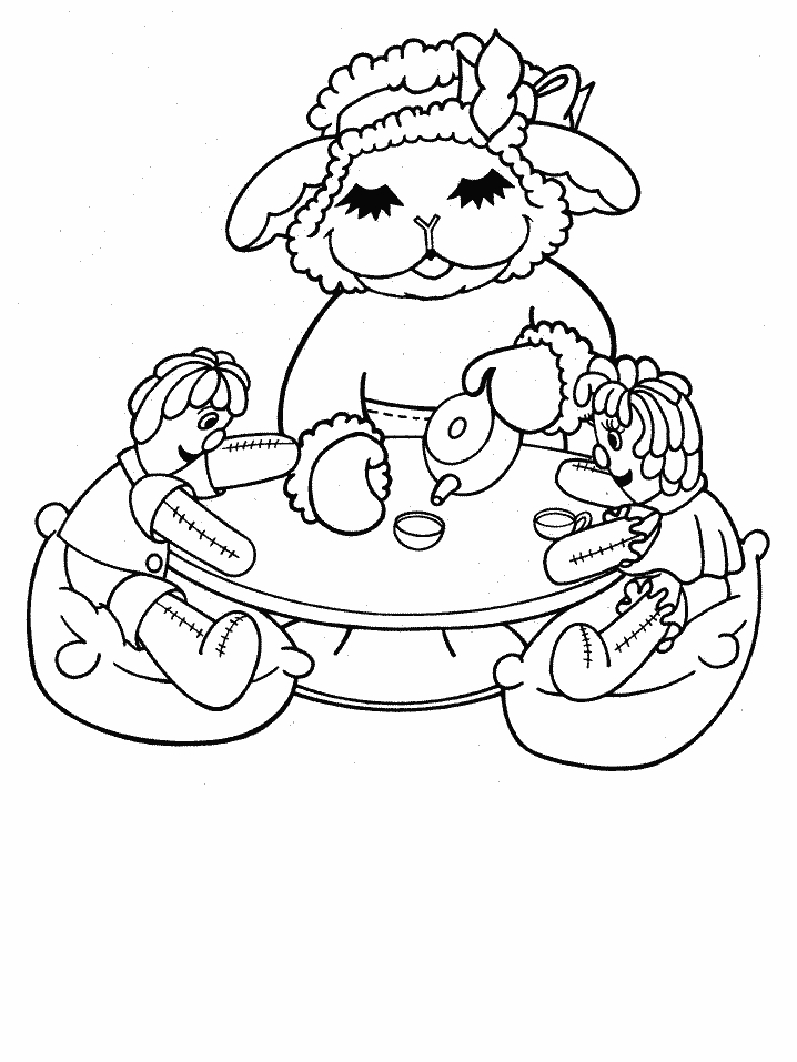 Lamb Picture To Color