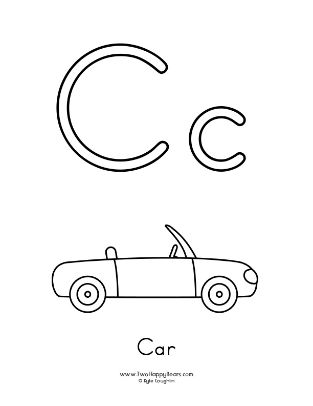 learn the letter c with the two print