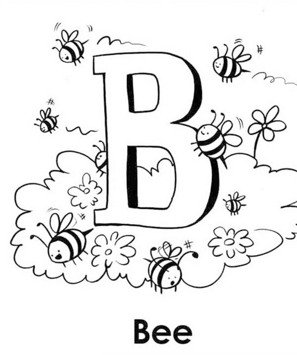 Letter B Coloring Pages For Adults
