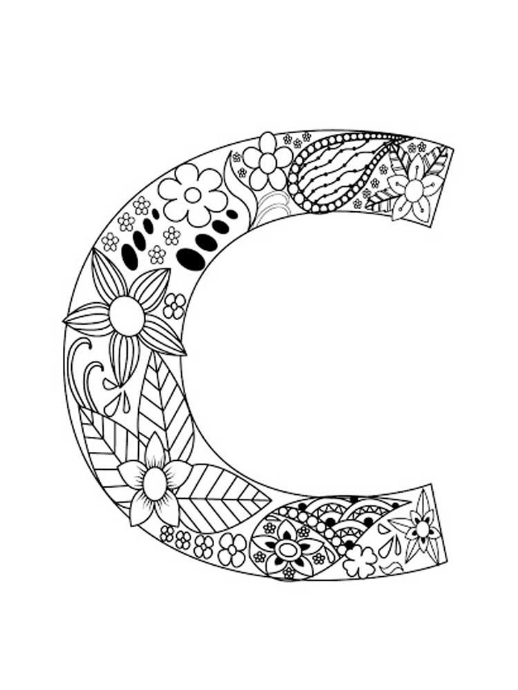 Letter C Color Pages