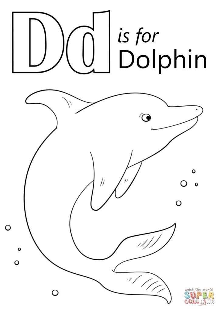 Letter D Color Sheet