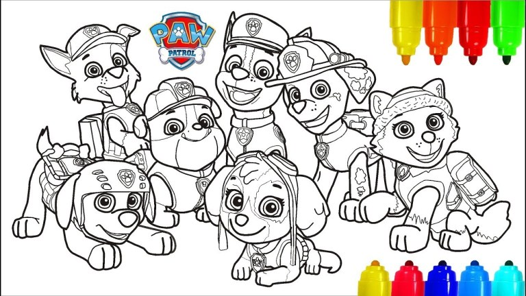 Mighty Pup Chase Coloring Page