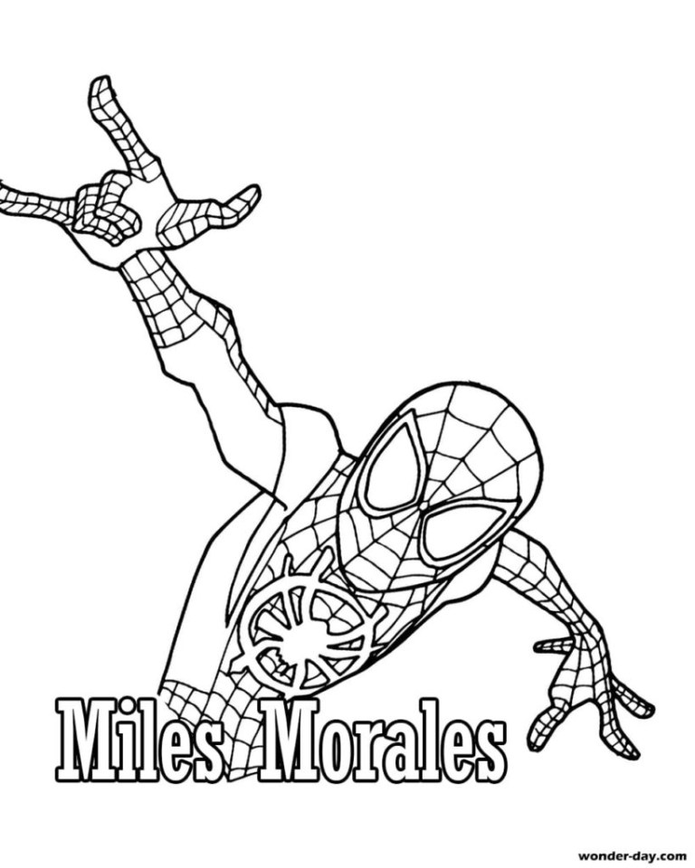 Miles Morales Pictures To Color
