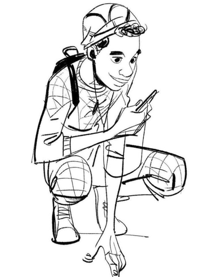 Miles Morales Spiderman Coloring Pages