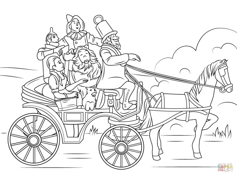 New Design Wizard Of Oz Coloring Sheets