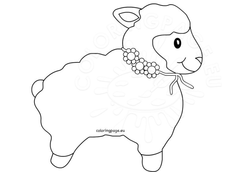 Pictures Of Lambs To Color