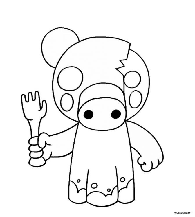 Piggy Coloring Pages For Kids