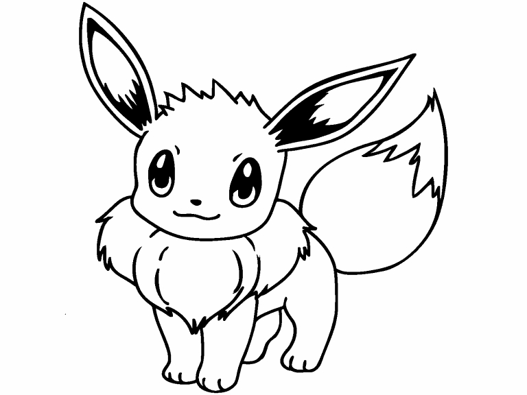 Pikachu And Eevee Coloring Pages