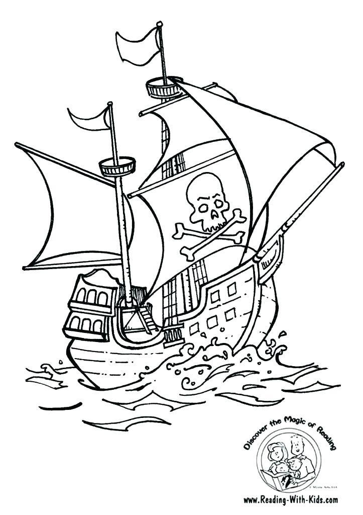 Pirate Ship Colouring