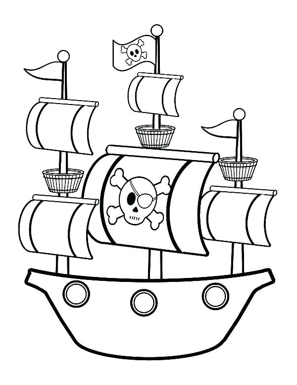 Pirate Ship drawing at to coloring online