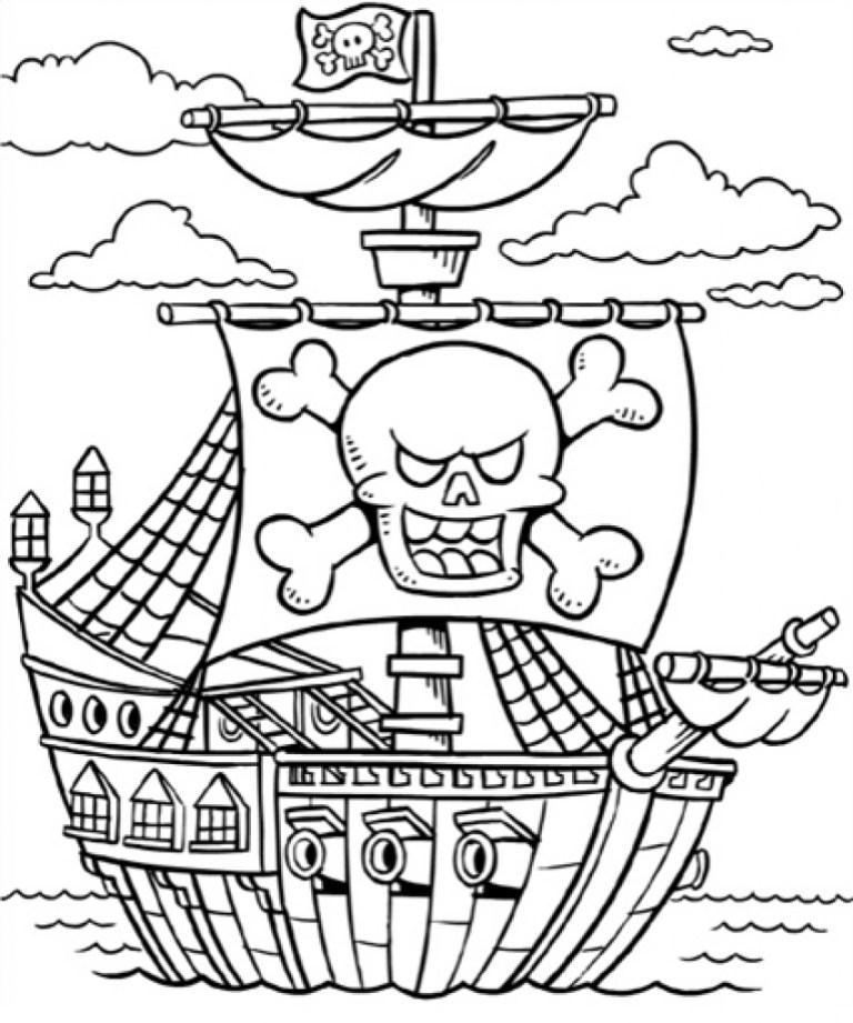 Pirate Ship Printable