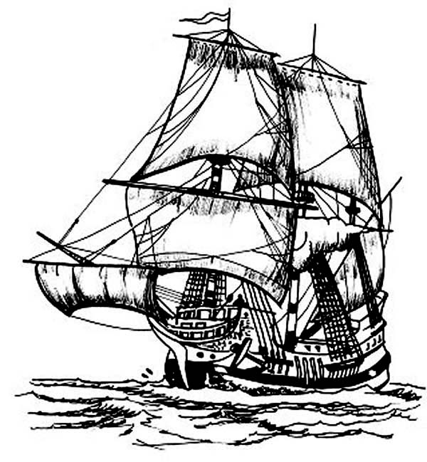 Pirates Ship Coloring Pages