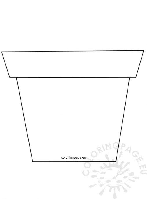 Plant Pot Outline