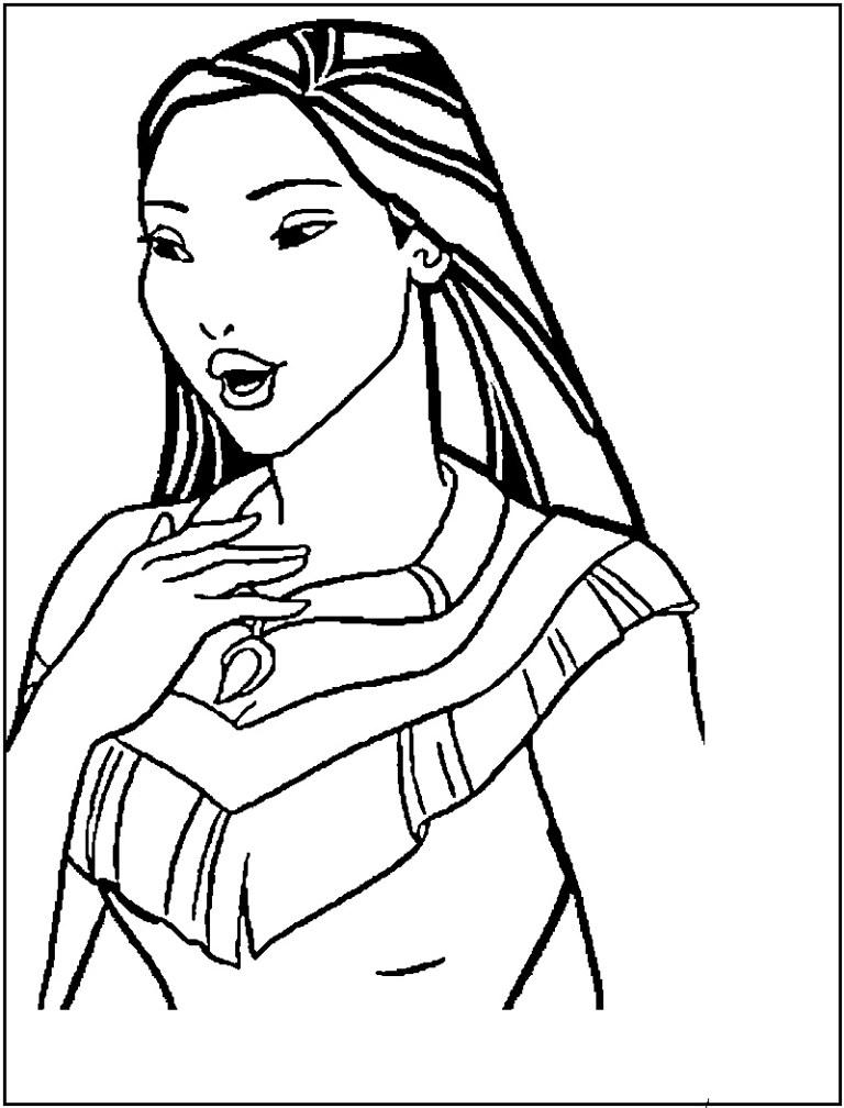 Pocahontas Color Page