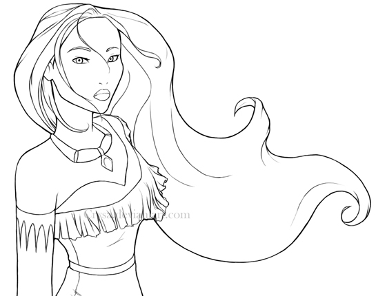 Pocahontas Coloring Pages Free