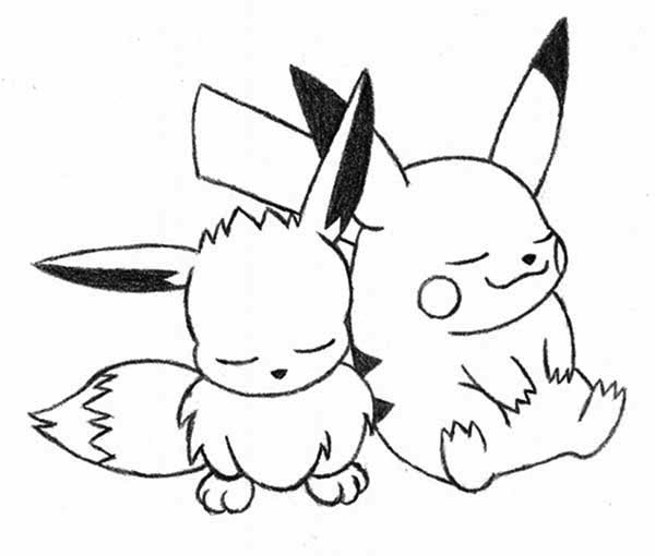 Pokemon Coloring Pages All Eevee Evolutions