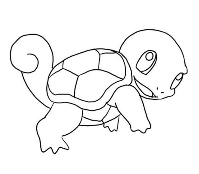 Pokemon Coloring Pages Squirtle