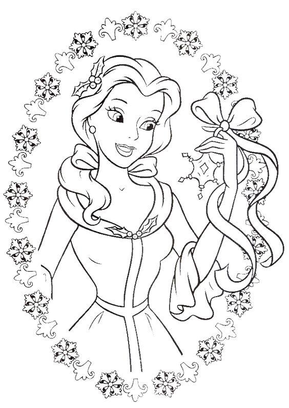 Princess Belle Coloring Sheets