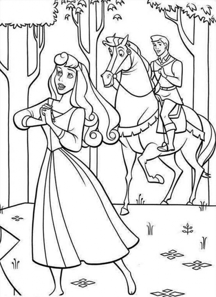 Princess Sleeping Beauty Coloring Pages