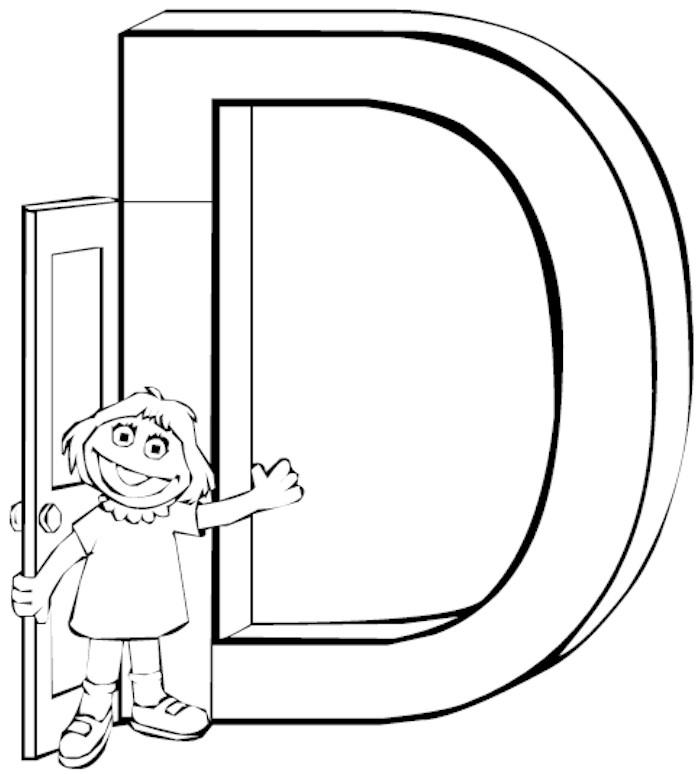 Printable Bubble Letter D