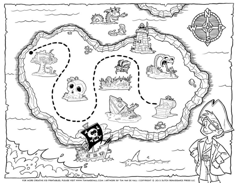 Printable Pirate Maps