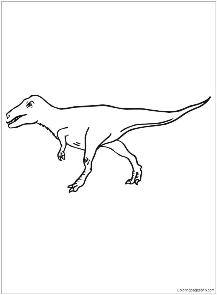 Raptor Coloring Page