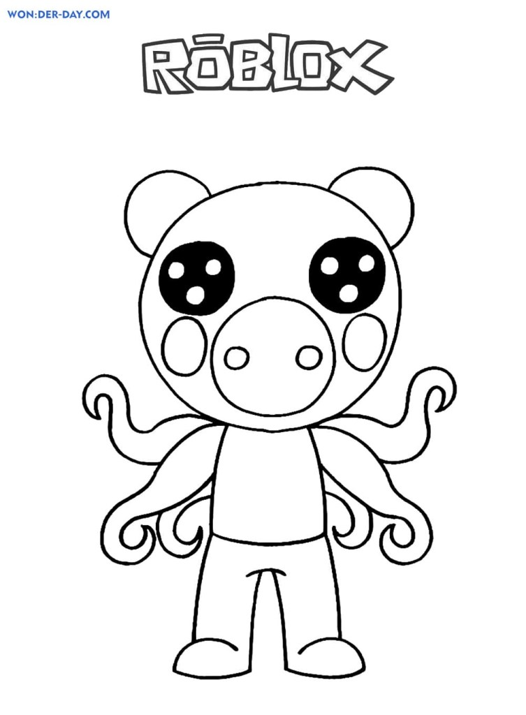 Roblox Piggy Coloring Pages