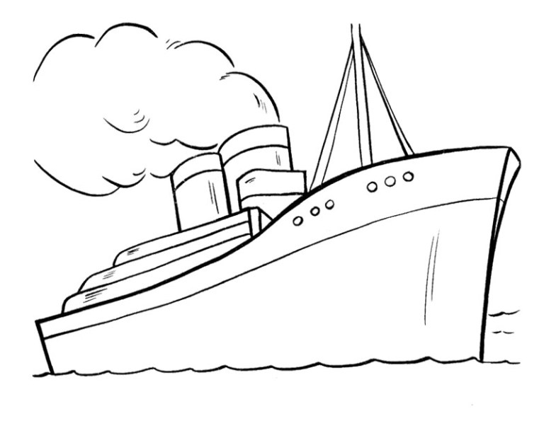 Sailboat Colouring Pages