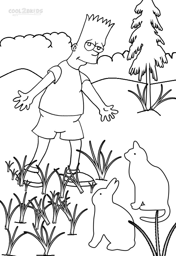 Simpsons Coloring Sheet Books