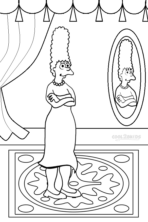 Simpsons Coloring Sheet for Kids