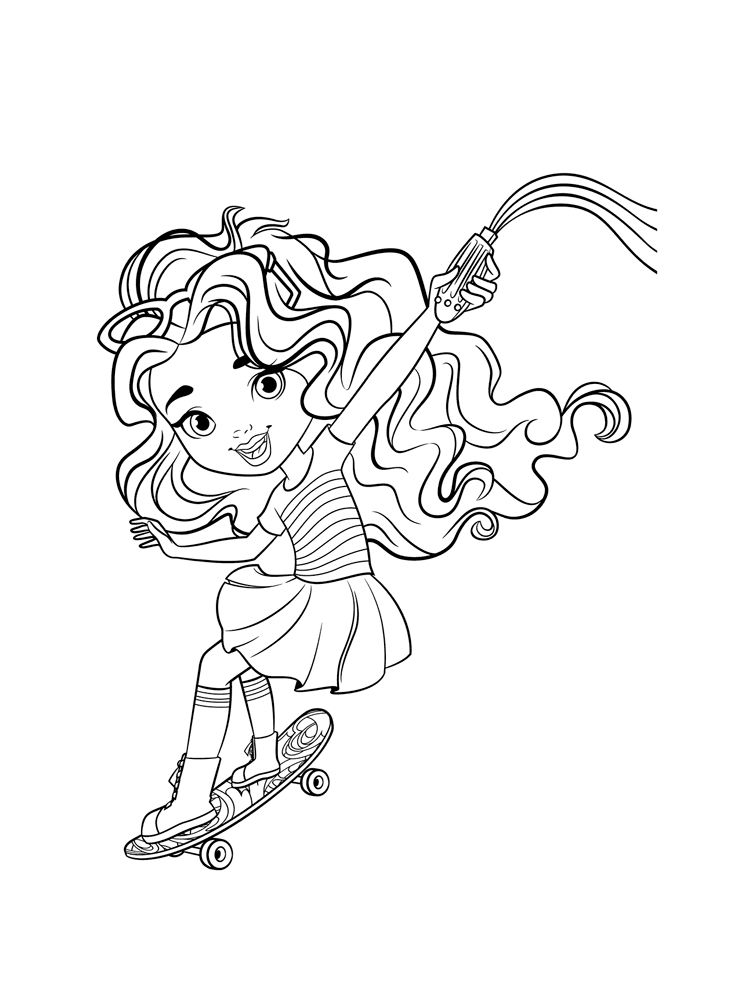 Skateboarding Coloring Pages