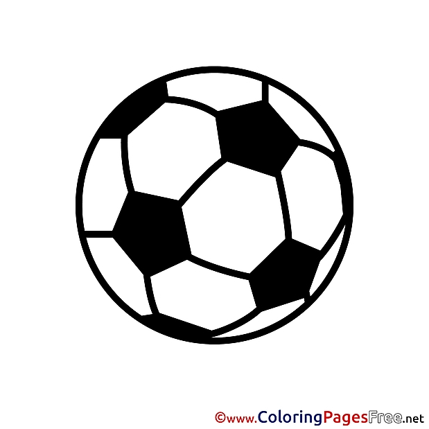 Soccer Ball Color Pages