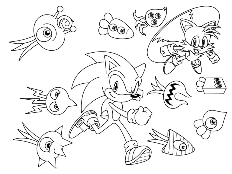 Sonic Tails Coloring Pages