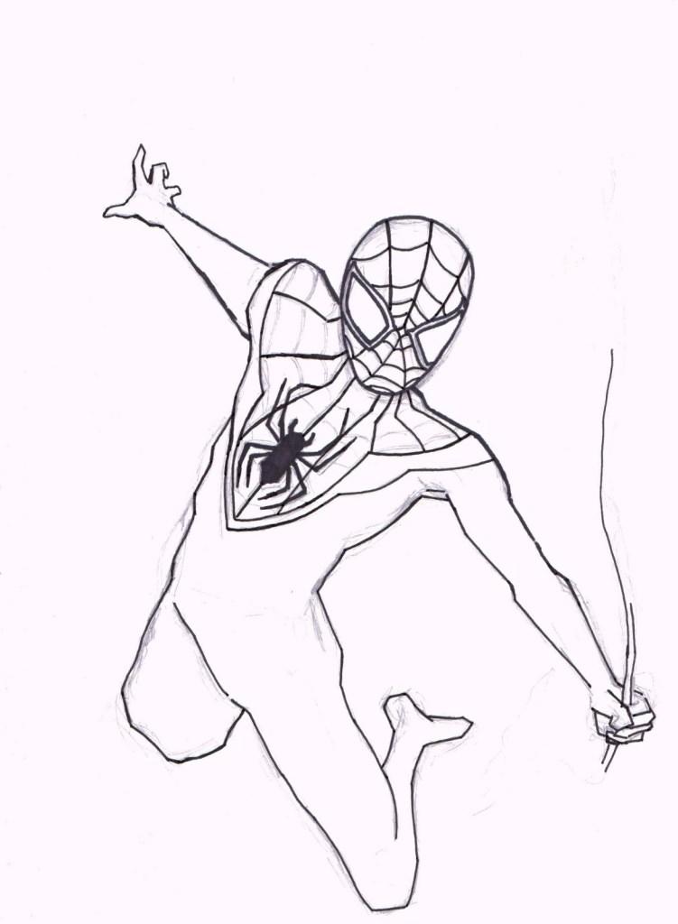 Spider Man Coloring Sheet
