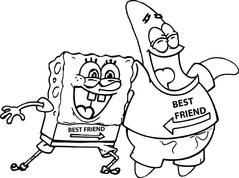 Spongebob And Patrick Outline