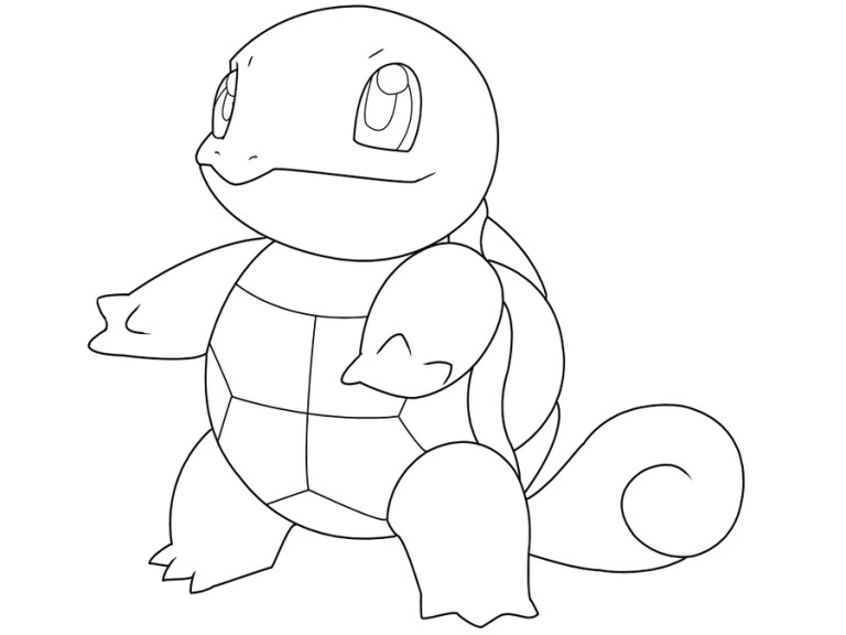 Squirtle Coloring Page Downloads