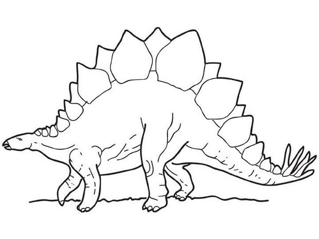 Stegosaurus Coloring Page For Kids Online