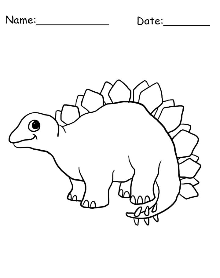 Stegosaurus Printable