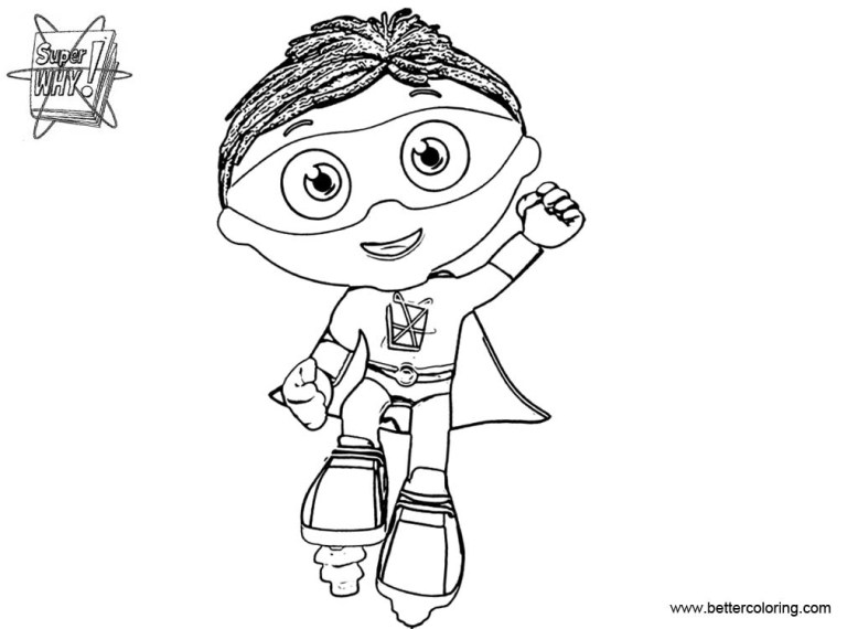 Super Why Color Pages