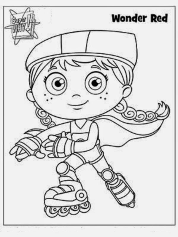 Super Why Coloring Book
