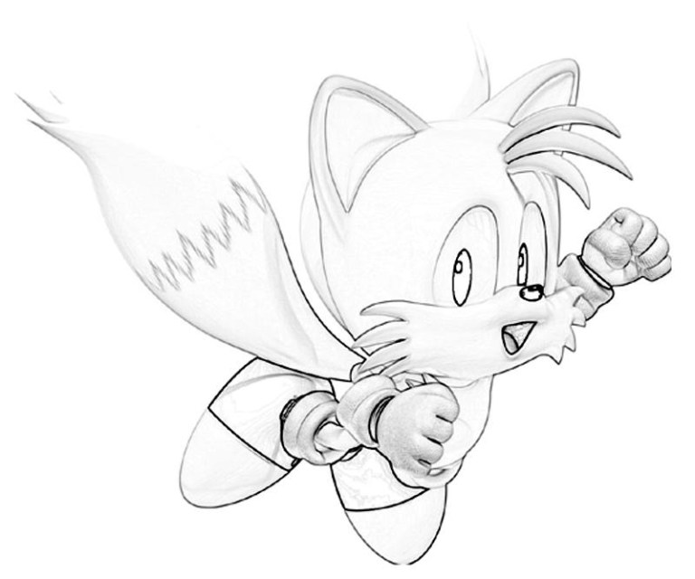 Tails From Sonic Coloring Pages