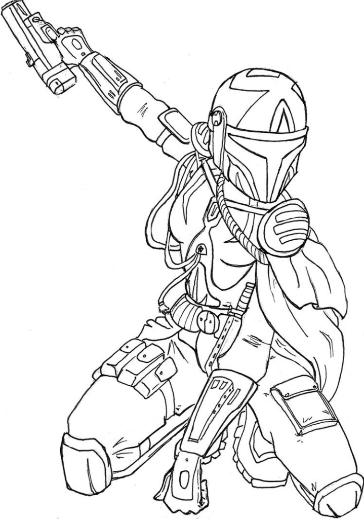 The Mandalorian Coloring Pages