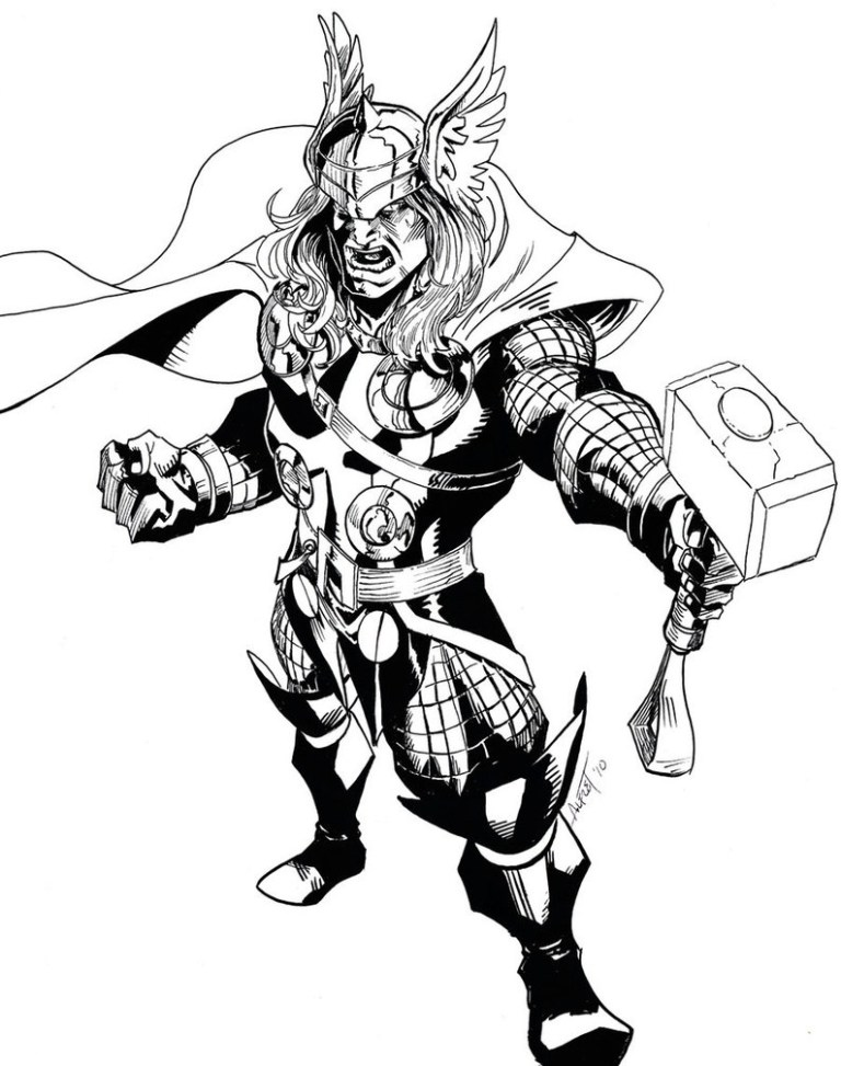 Thor Coloring Pages Image