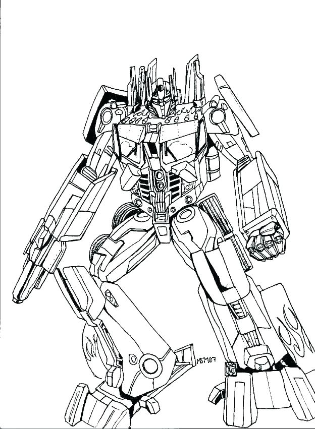 Tranformer Coloring Pages