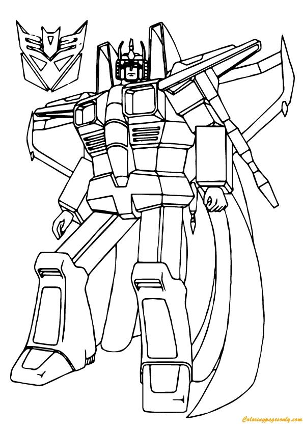 Transformer Colouring Sheet
